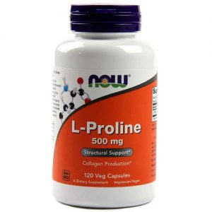 Now Foods L-proline 500mg