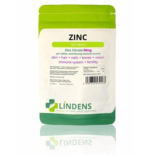 Lindens Zinc Citrate 50mg