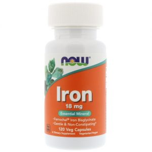 Now Foods Iron 18 mg