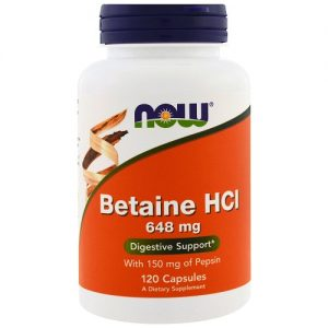 Now Foods Betaine 648mg