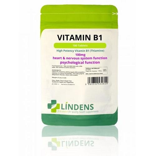 Lindens Vitamin B1 100mg