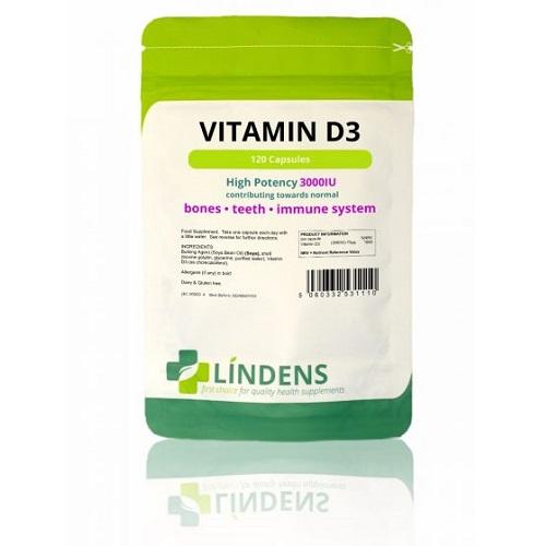 Lindens Vitamin D3 3000IU