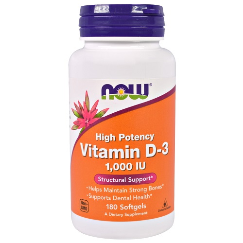 Now Foods Vitamin D-3 1000iu